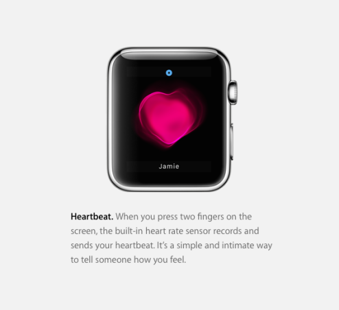 Heart beat Apple Watch